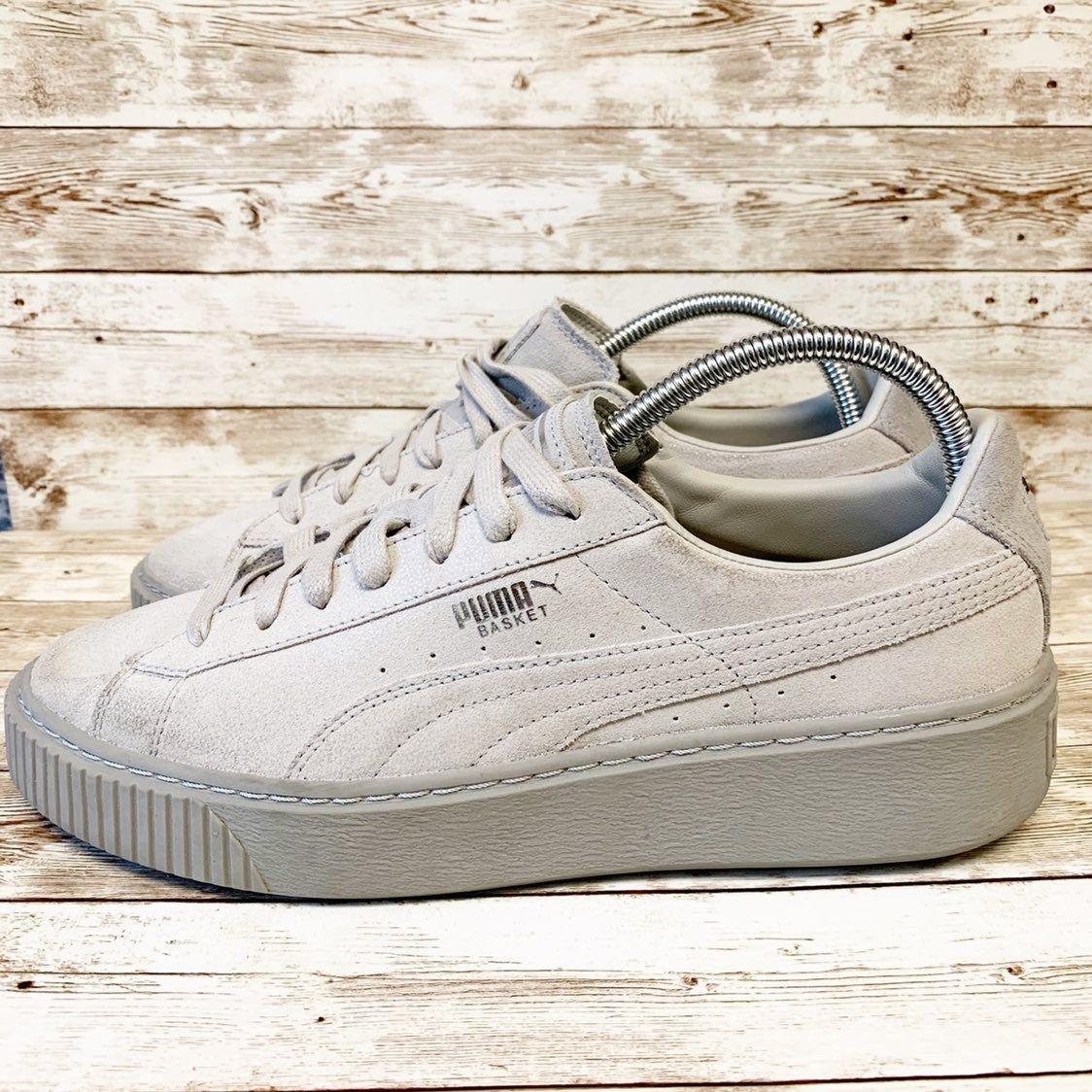 Puma basket platform sneakers women's
