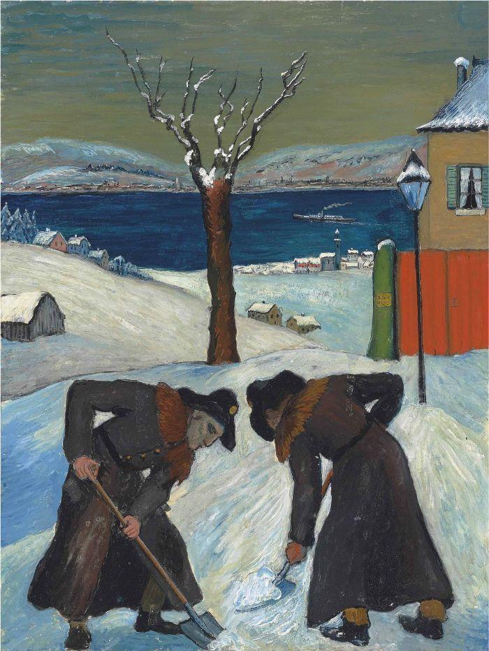 Schnee uber Nacht-1918 by Marianne von Werefkin