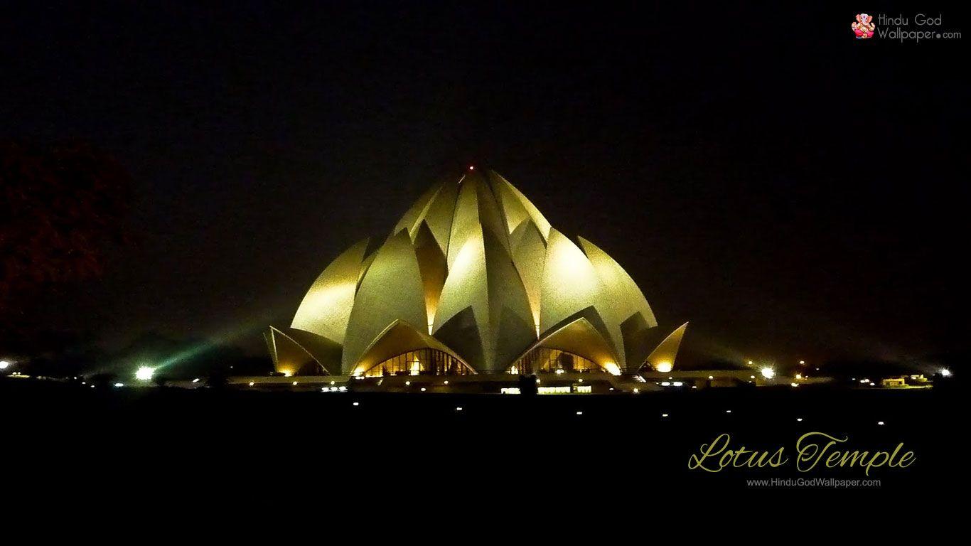 lotus temple night hd