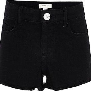 black jean shorts for girls