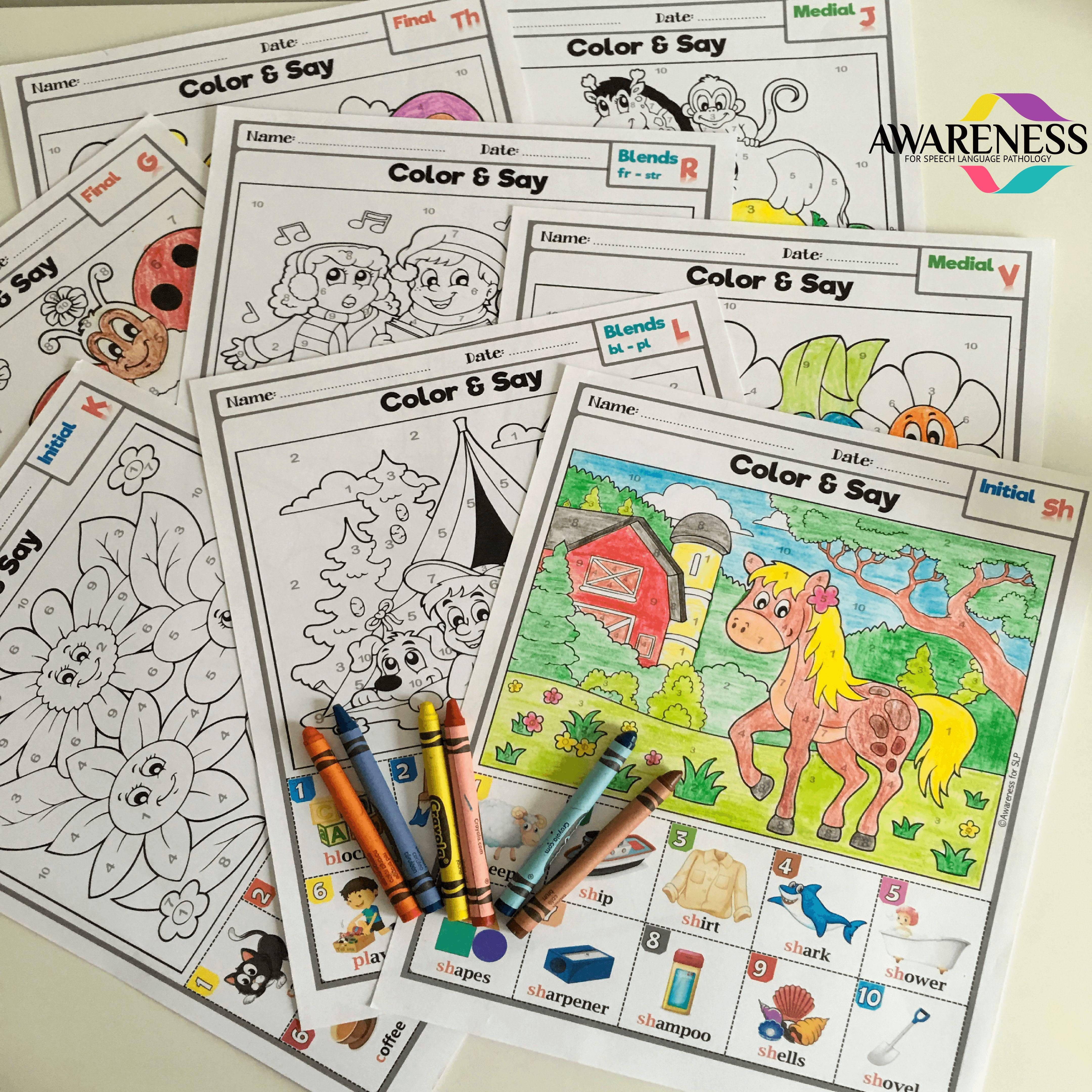 Articulation Activities Articulation Coloring Worksheet