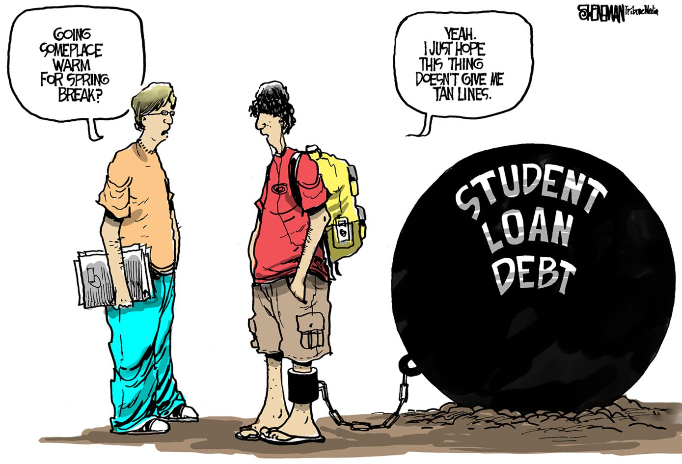 Your Ball and Chain - student debt infringes upon their freedoms ...
