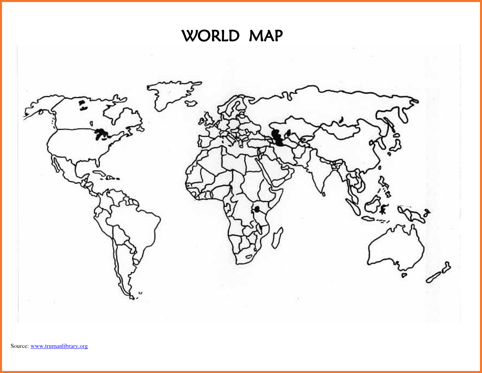 World Map Template Printable Blank World Map Countries