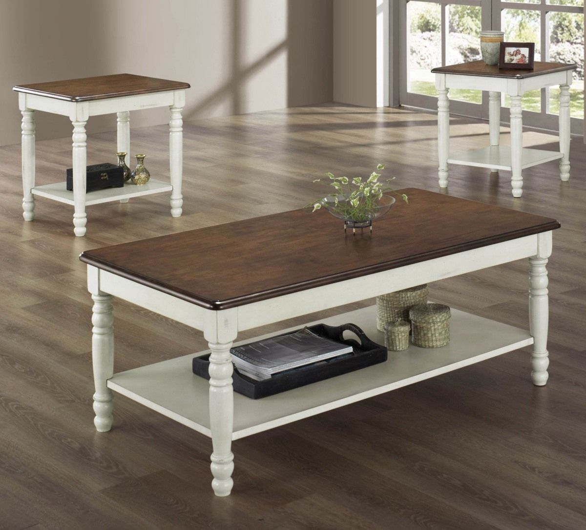White Coffee Table With Dark Wood Top Httptherapybychancecom - White coffee table with dark wood top