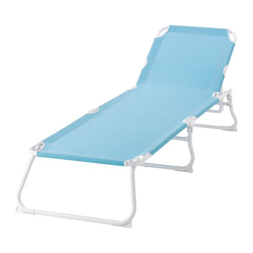 Ikea Sonnenliege ikea håmö chaise light blue made of heavy polyester fabric
