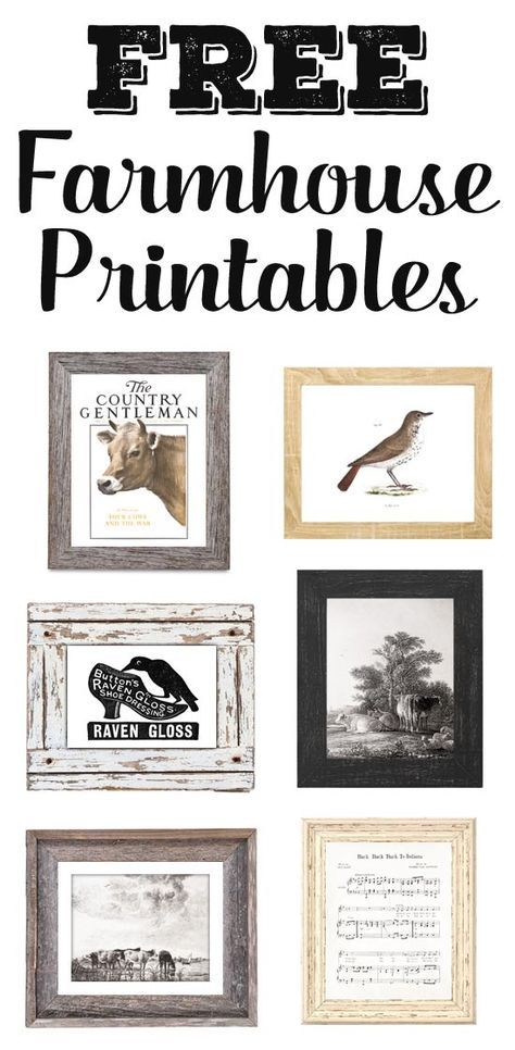 Clean image for free printable farmhouse signs