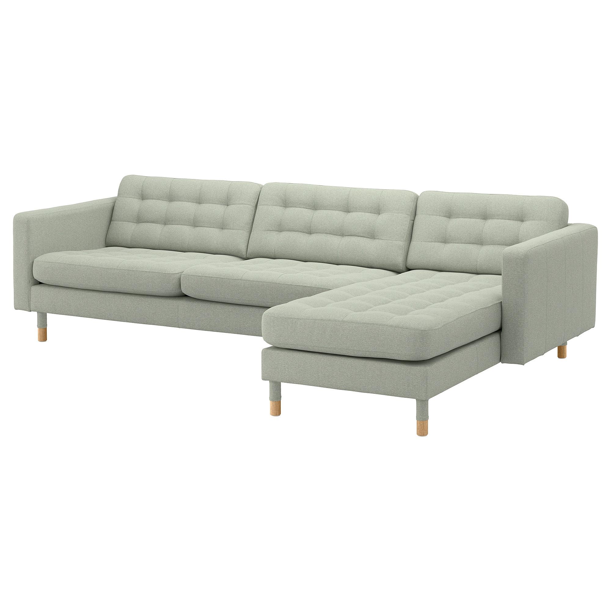 Landskrona 4er Sofa Mit Recamiere Gunnared Hellgrun Holz Ikea Osterreich 3er Sofa Sofa Stoff Modulares Ecksofa