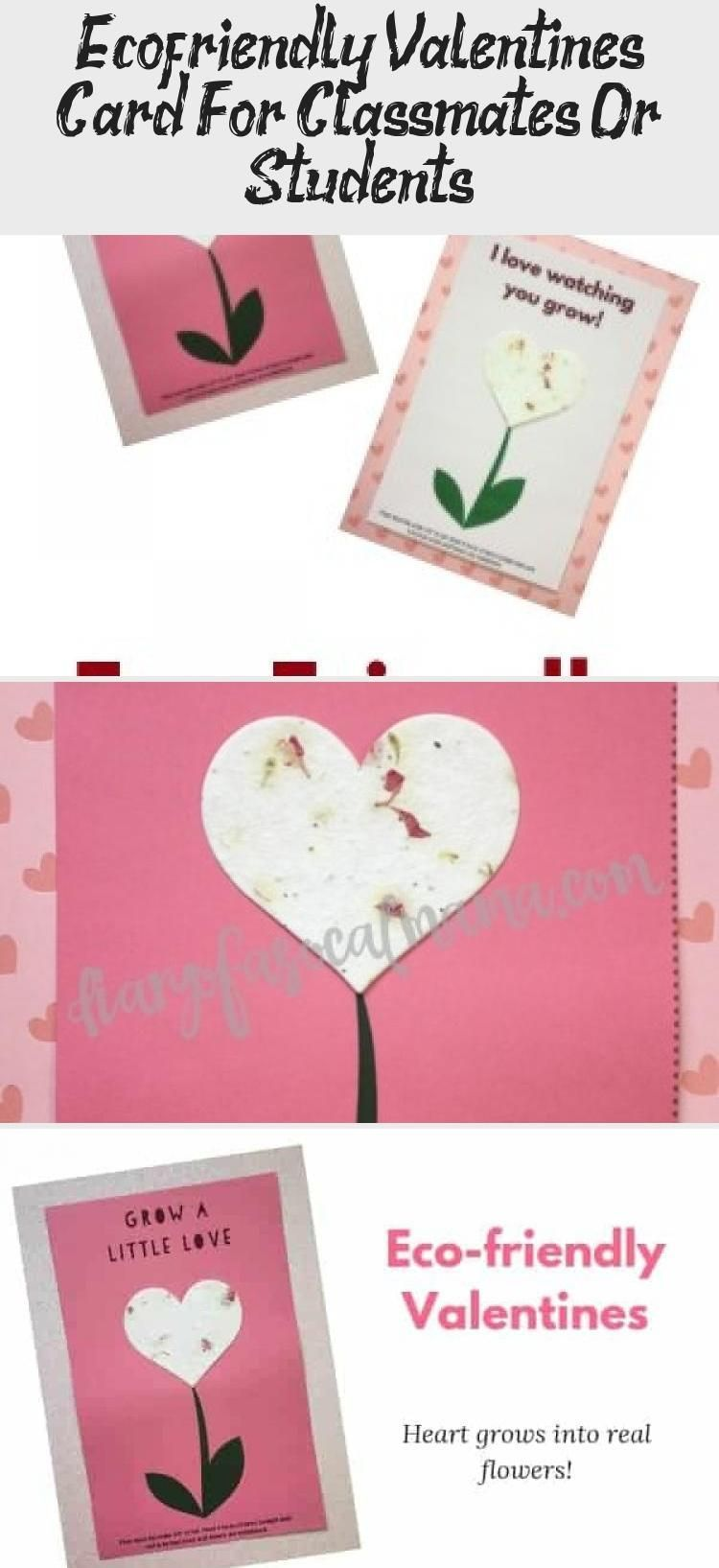 Eco Friendly Valentines Card For Classmates Or Students