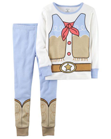 b9957f1dc7af 2-Piece Cowgirl Snug Fit Cotton PJs