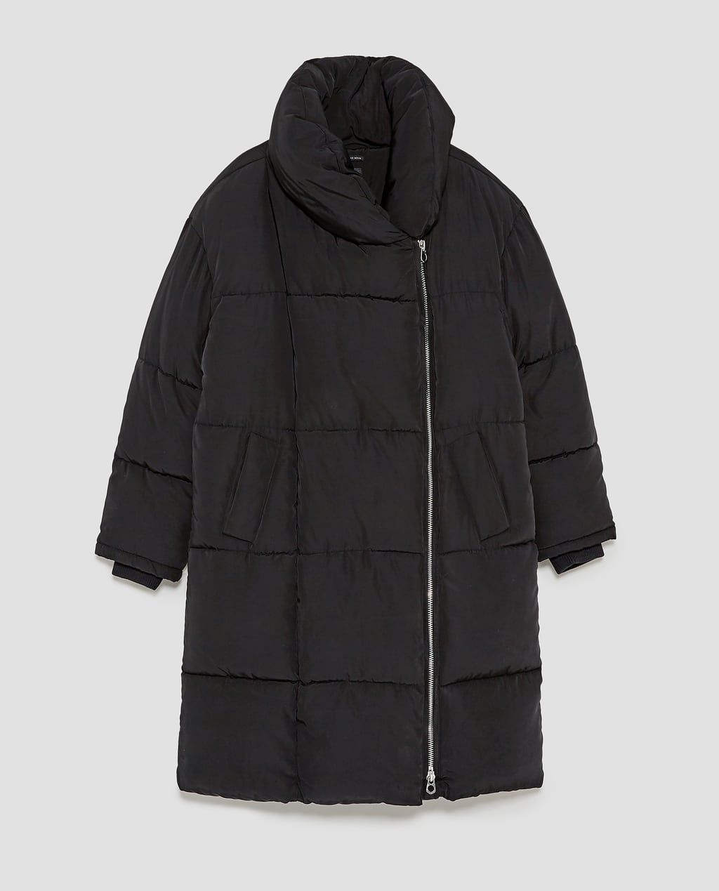 5dce6804b LONG PUFFER COAT WITH CROSSOVER ZIP-Puffers-OUTERWEAR-WOMAN | ZARA ...