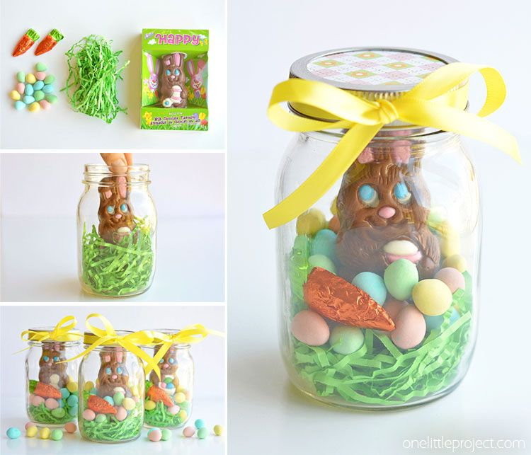 Mason jar easter gifts chocolate bunny easter and peter cottontail these mason jar easter gifts are so easy and theyre so cute this negle Gallery