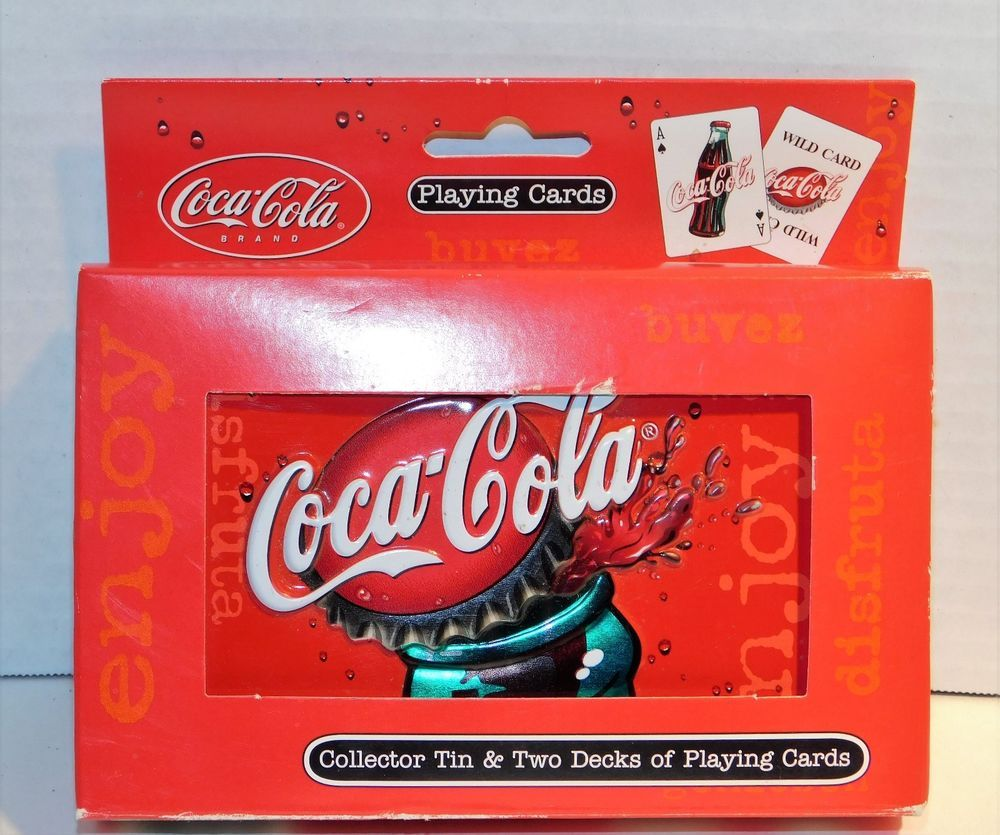 Coke Playing Cards in collector tin.