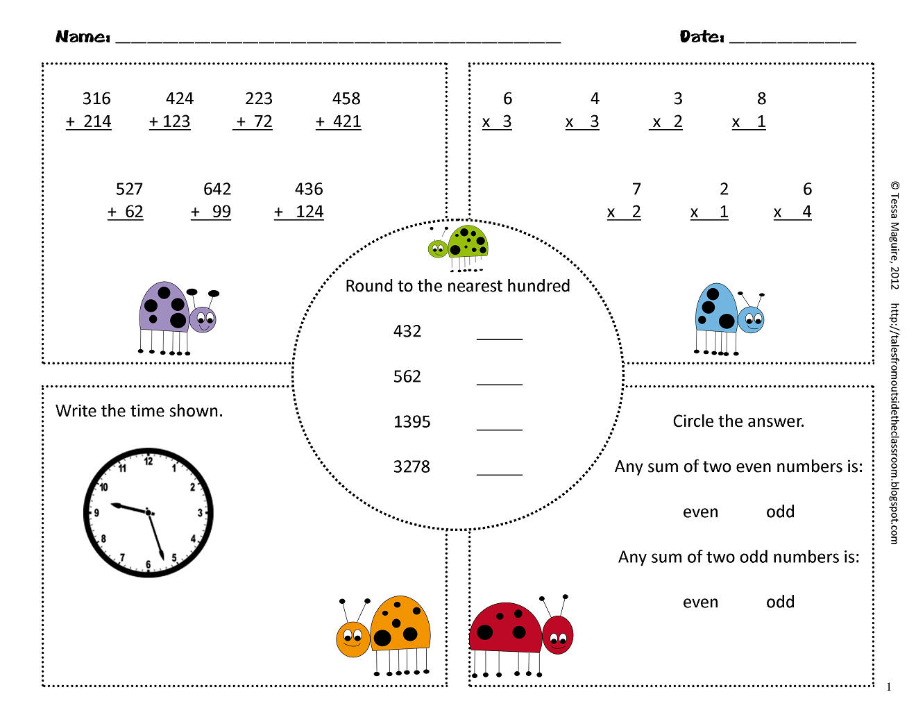 3rd Grade Common Core Math Warm Ups Classroom Freebies 3rd Grade Math Daily Math Common Core Math [ 1020 x 1320 Pixel ]