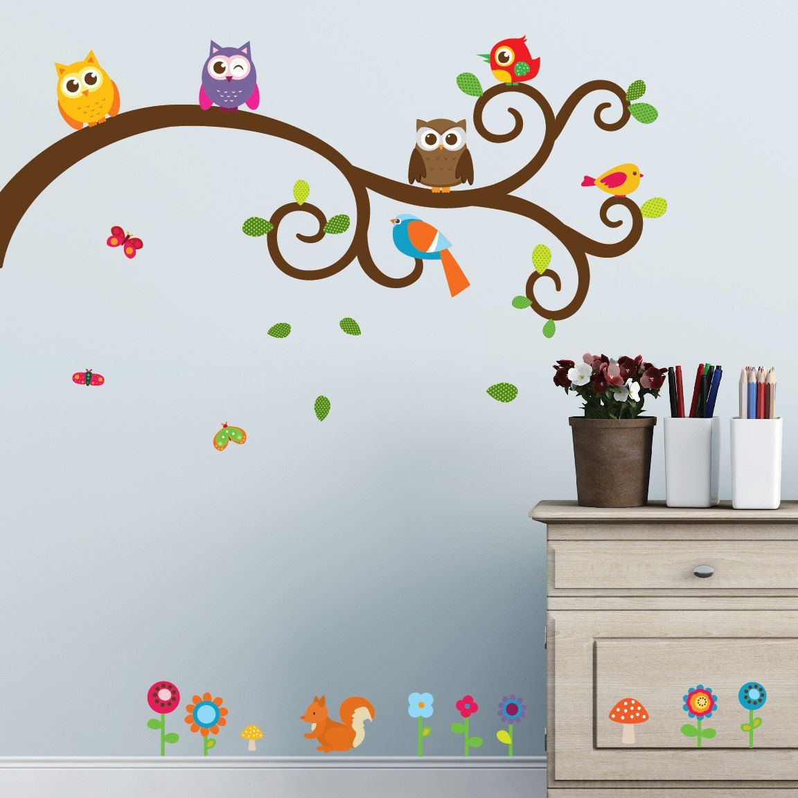 Owls And Friends Wall Decals By Wallsneedlove On Etsy 28
