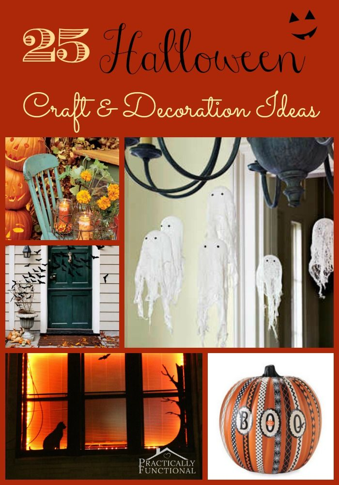 25 Halloween Craft  Decoration Tutorials HOW TO / DIY Pinterest - halloween crafts decorations