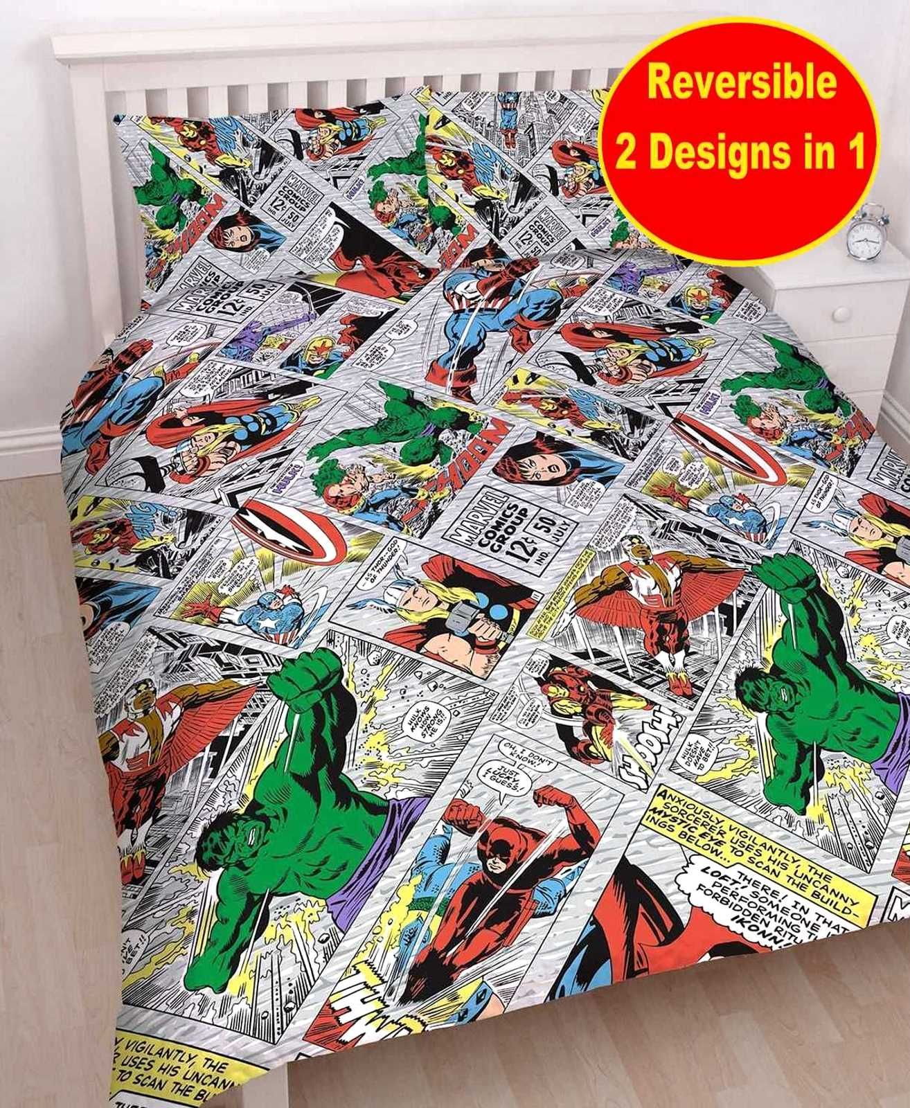 New Rotary Duvet//Quilt Cover Kids Character BATMAN Harry Potter JUSTICE LEAGUE