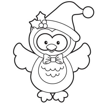 holiday owl coloring page free christmas recipes coloring pages for kids santa letters - Free Owl Coloring Pages