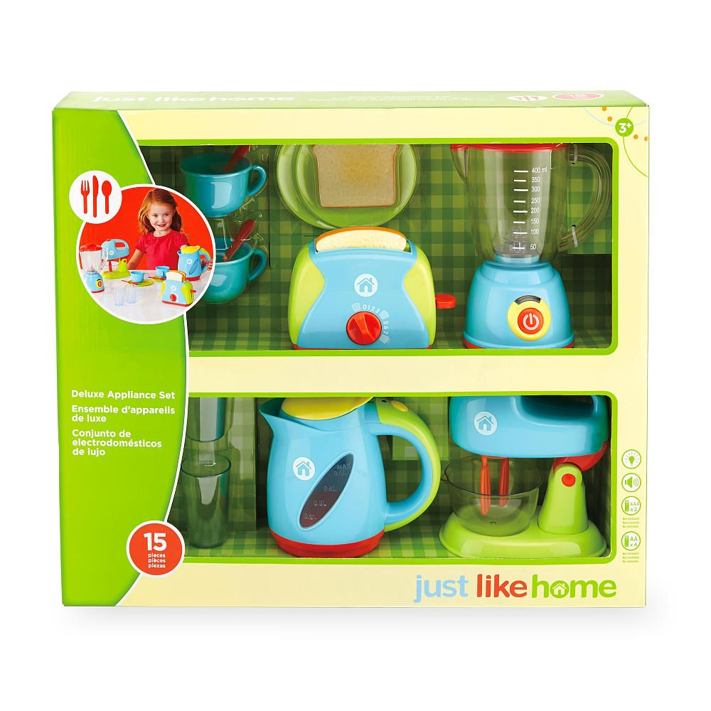 The Just Like Home - Deluxe Appliance Set functions just like the ...