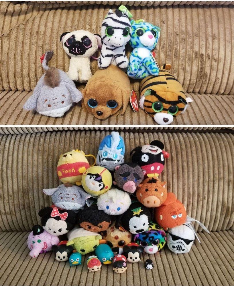 04e34936e08 Disney tsum tsum stuffed Plush Mixed lot marvel star wars Ty Beanie Boos   Disney
