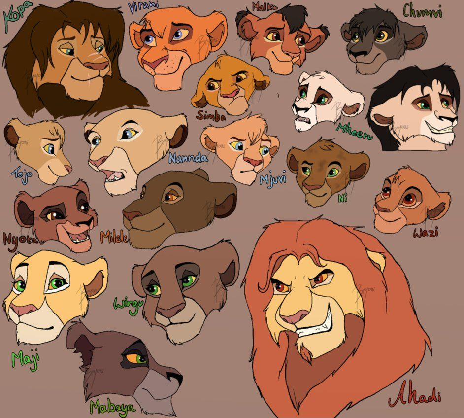 lion king characters dump by beestarart on deviantart