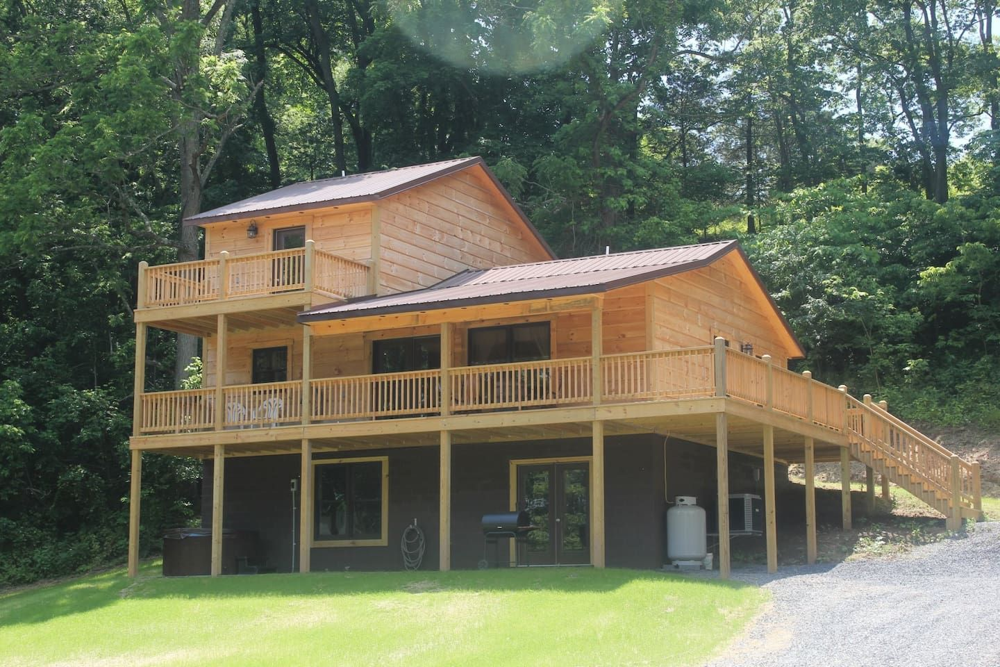 Foggy River Chalet Shenandoah River Cabins For Rent In