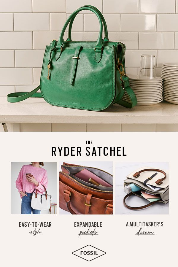 d521d0b70e95 Spring s newest handbags co me in classic and bold colors. Shop the Fossil  Ryder handbag.