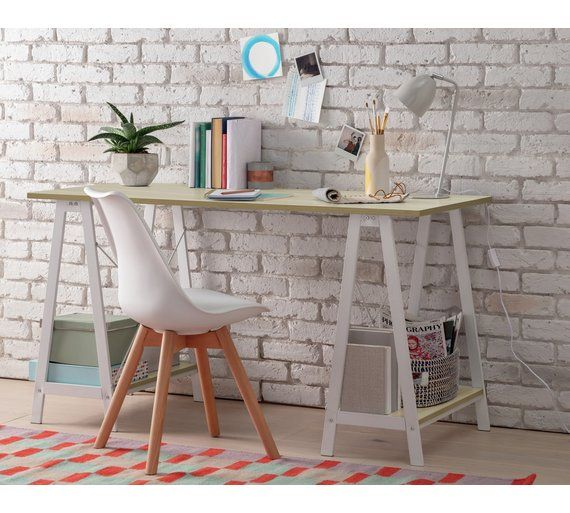 Buy Argos Home Trestle Table Office Desk - White