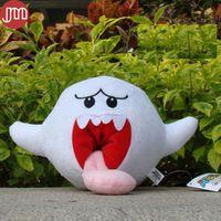New Super Mario Boo Ghost Long Tongue White Mushroom Cuddly Plush Toy Stuffed…