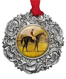 Christmas Ornament with Vintage Horse Image in 2020 ...