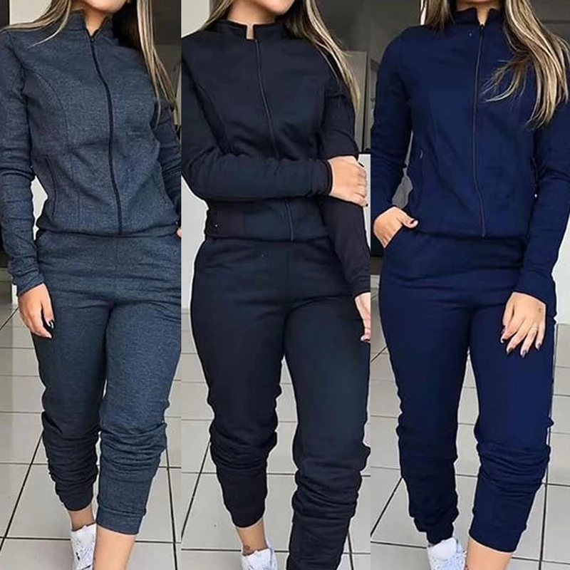 Women S Long Sleeve Fashion Joggers Outfit Tracksuit Women Tracksuit Set Joggers Outfit