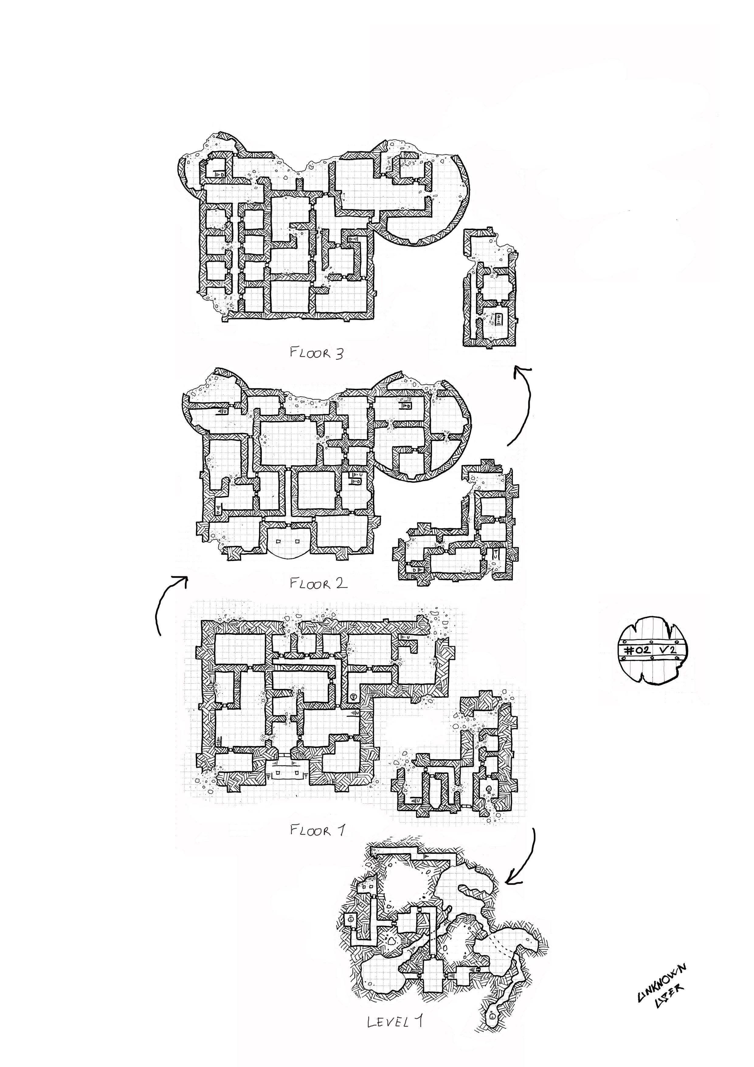 02 v2 for Floor 2 dungeon map
