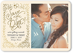 Flat Wedding Paper Divas Save The Date Cards