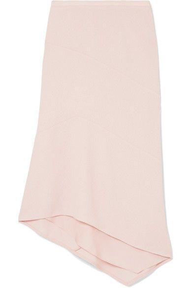 cd0e40caa Narciso Rodriguez - Asymmetric Basketweave Wool Midi Skirt - Pink