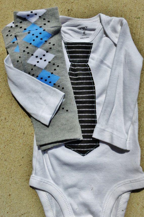 Bow tie/Tie Longsleeved Onsie and Baby boy by UtterChaosByJodi, $28.15