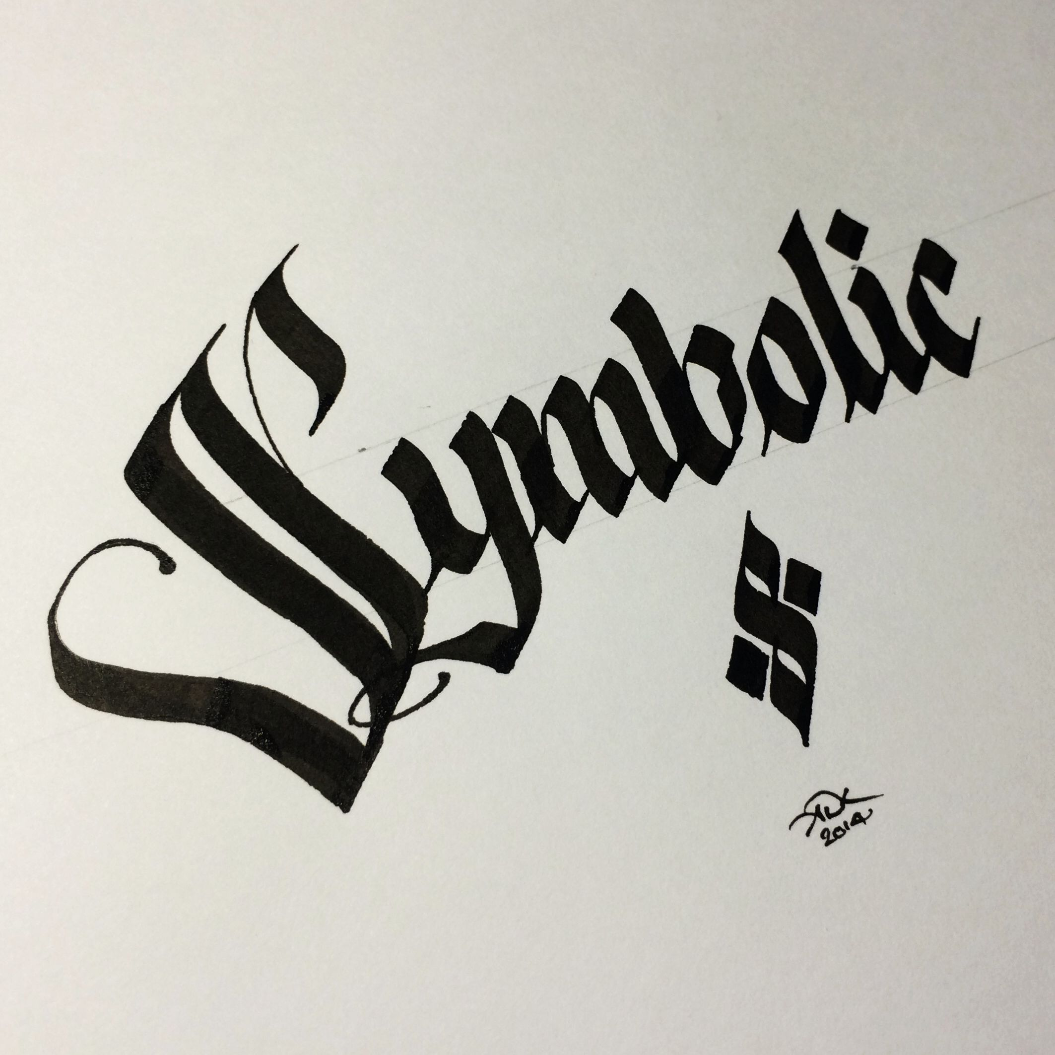 By Andrew Kelly Gothic Calligraphy Blackletter