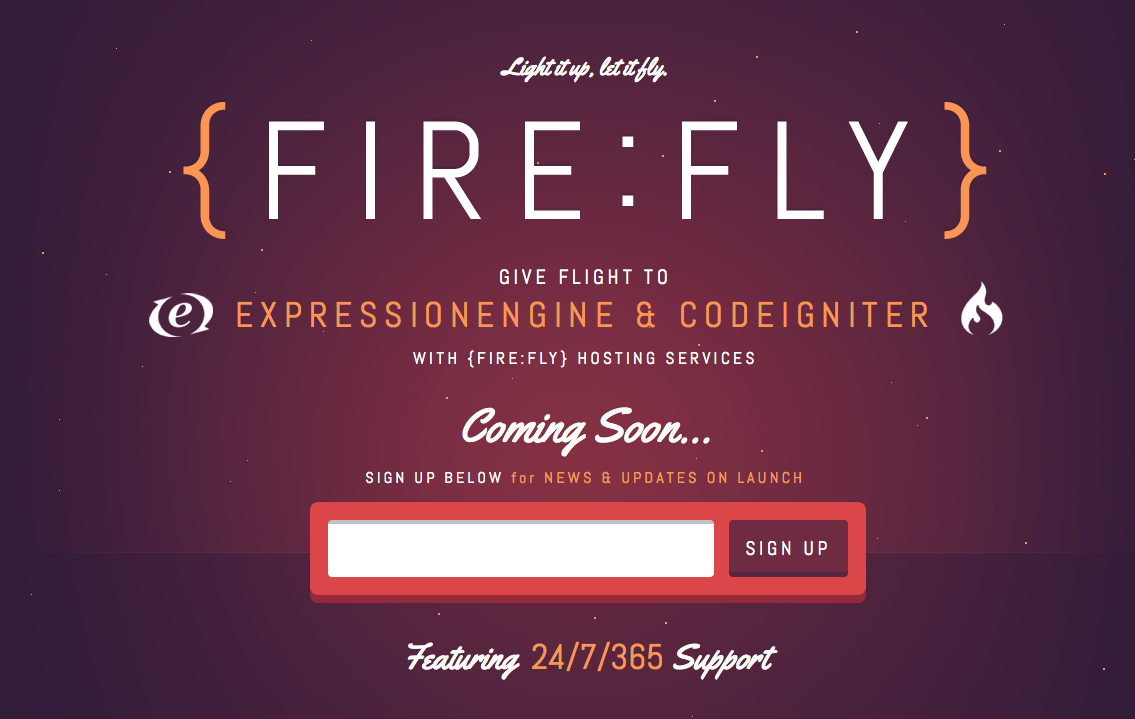 FIREFLY Web design, Coming soon page, Magazine web design