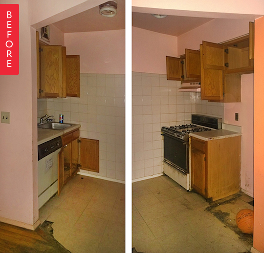 Kitchen Renovation Apartment Therapy: Before & After: New Life For A Sad Brooklyn Kitchen
