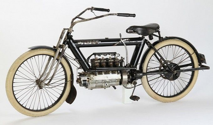 4 Cylinder 1911 Pierce Motorcycle For Auction Motorcycle Vintage Bikes Antique Motorcycles