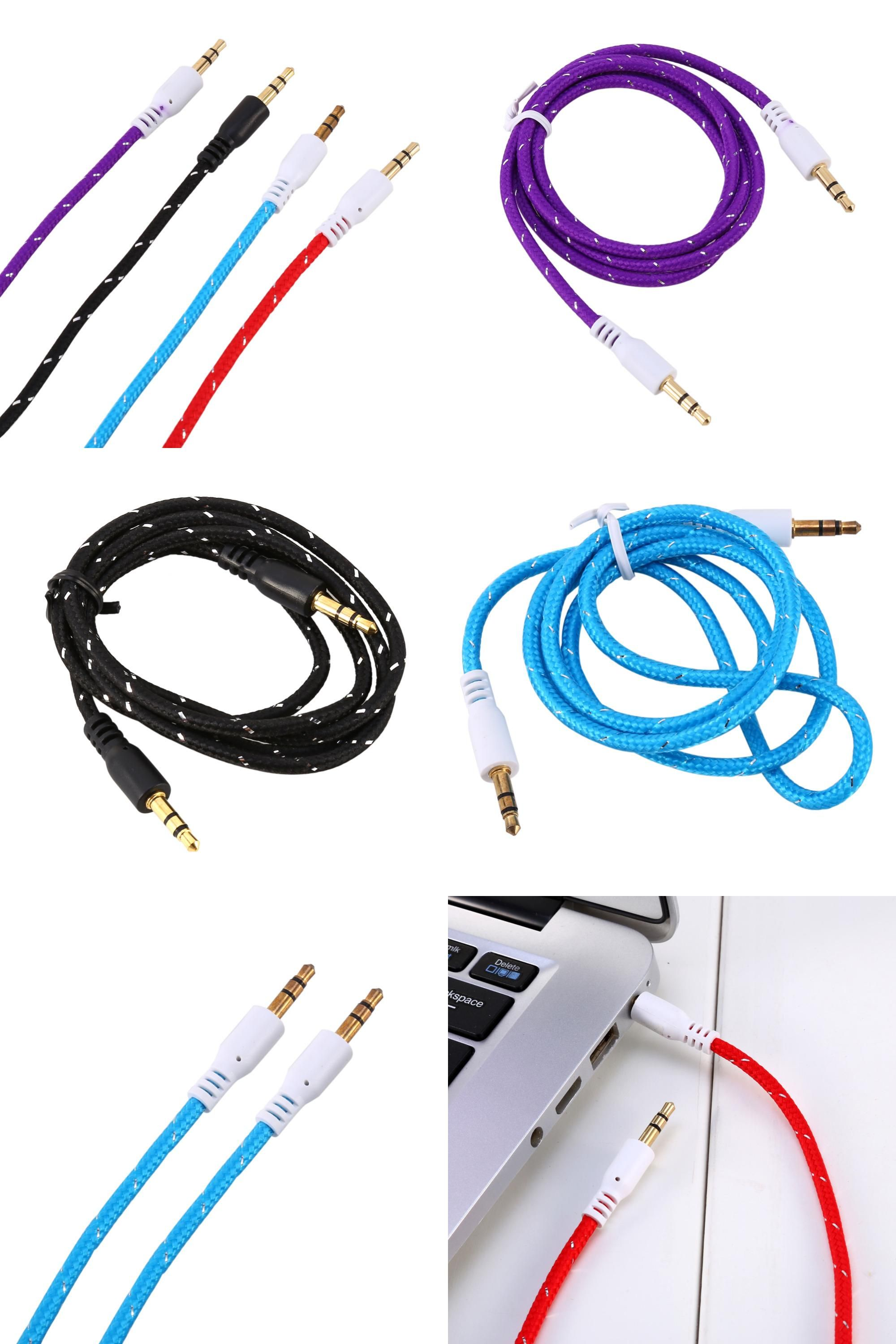 Visit To Buy Aux Auxiliary Jack Cable 3 5mm Braided Male To Male Stereo Audio For Ipod Car Phone With Best Quality Advertisem Male To Male Stuff To Buy Ipod