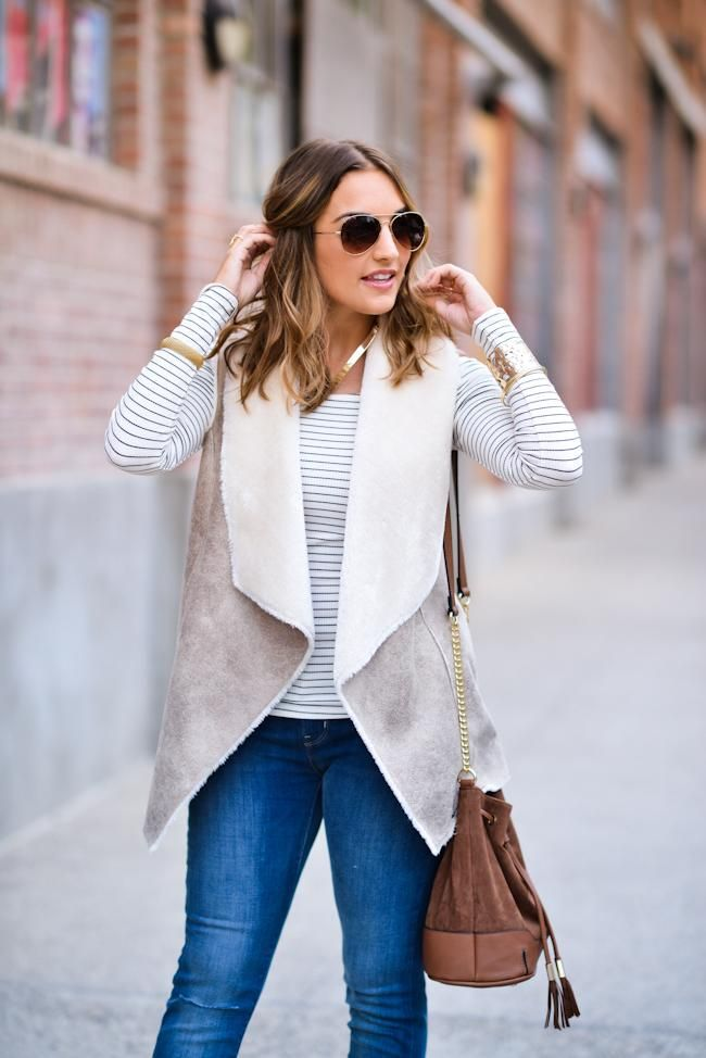 6e70febd2120e9 Need this sherpa vest. As seen on blogger Olia Majd  DynamiteStyle ...