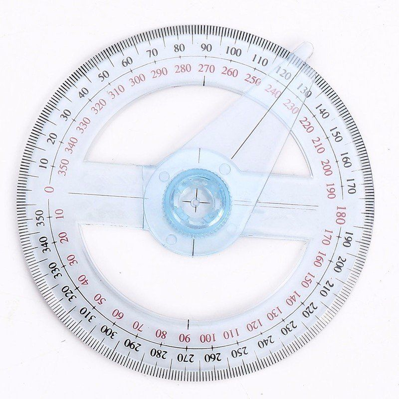 Plastic 360 Degree Protractor Ruler School Office Angle Finder