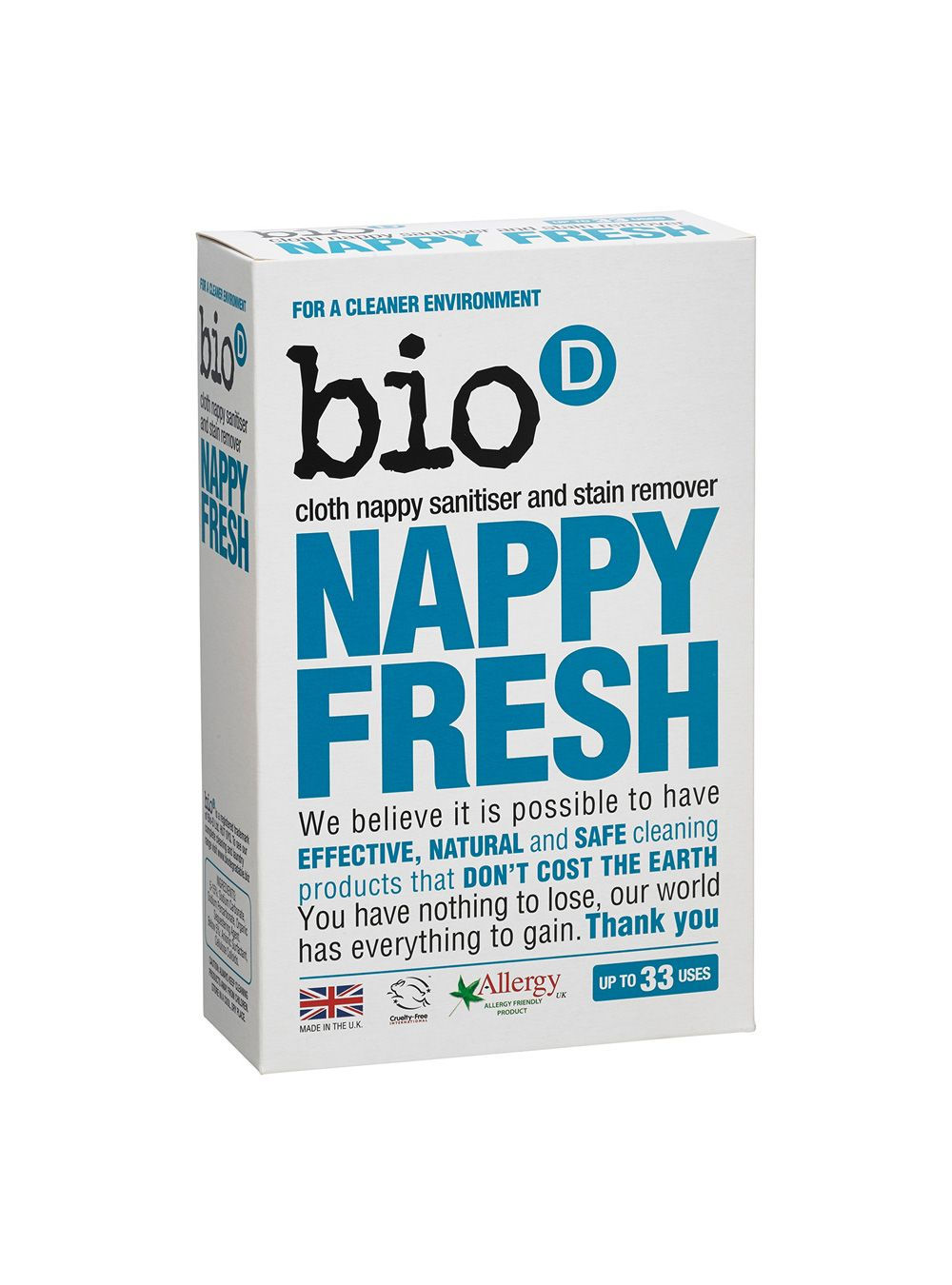 BioD Nappy Fresh Safe cleaning products, Nappy