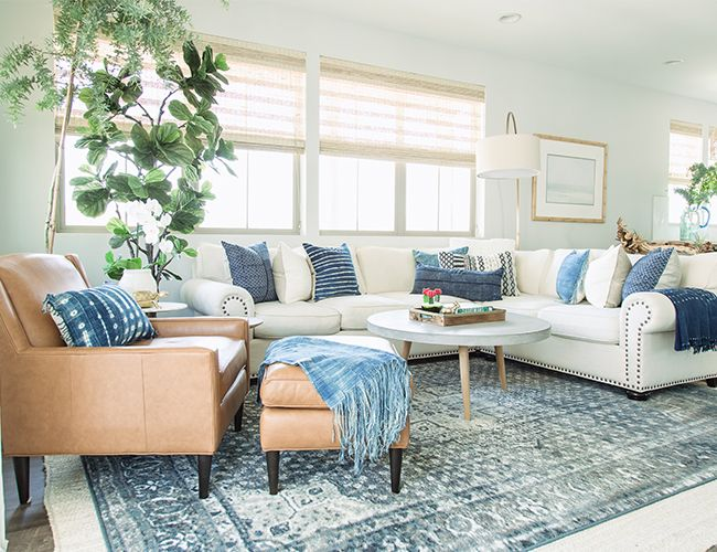 Coastal Home Tour With Pure Salt Interiors Inspired By This Coastal Style Living Room Coastal Living Rooms Modern Coastal Living Room