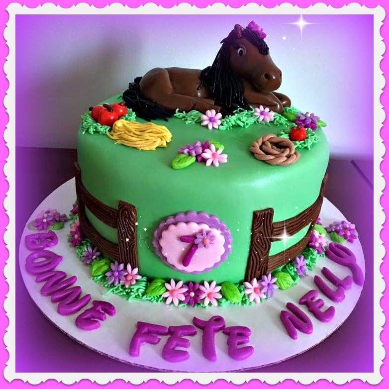 gateau anniversaire fille cheval