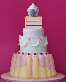 many cakes in a cake. with the cupcake at the top. Perfect.