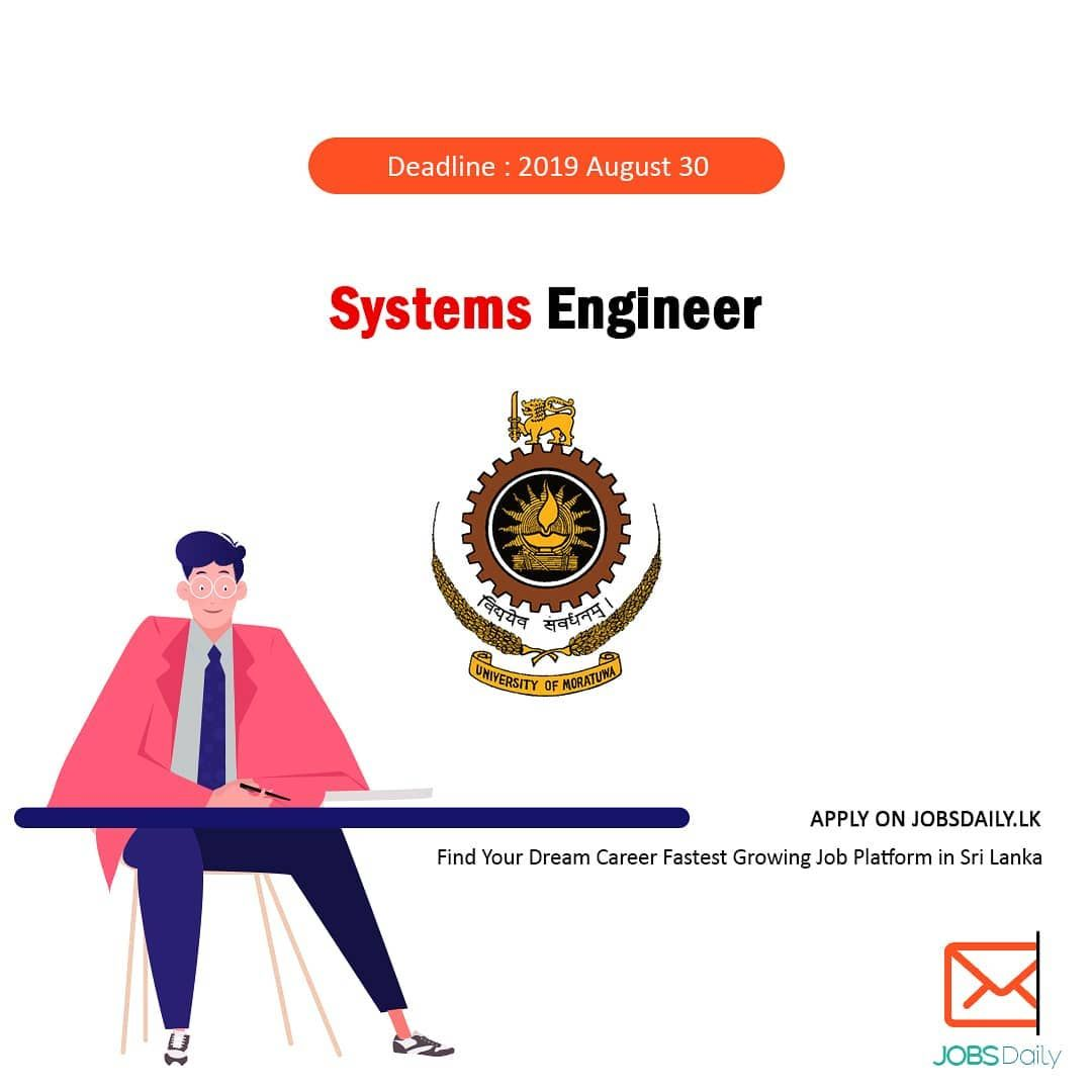 Systems Engineer University of Moratuwa Apply Now https