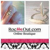 Above the knuckle rings, mid rings, gold fashion rings and all! Make a statement with your favorite Roc-ing bling!  www.rocmeout.com
