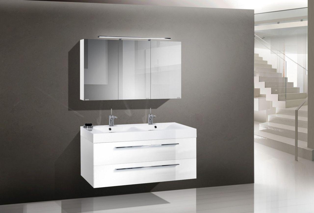 Badezimmermöbel Ebay ~ Design badmöbel set mit doppelwaschtisch 120 cm jetzt bestellen