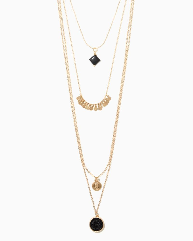 Harper prelayered pendant necklace charming charlie jewelry