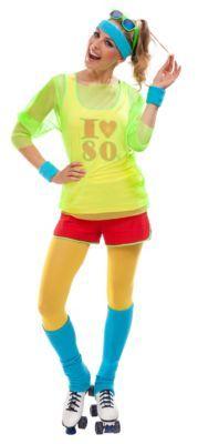 Buttinette Outfit 80er Jahre Girl Gra N Rot 29 95 Bad Taste